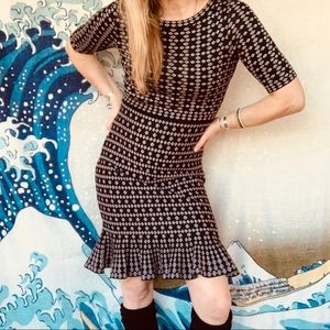 Anthropologie Taylor sweater dress, ruffle hem 6